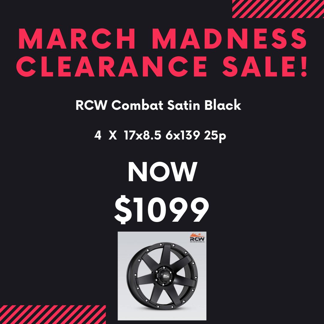 March Madness RCW Combat Satin Black