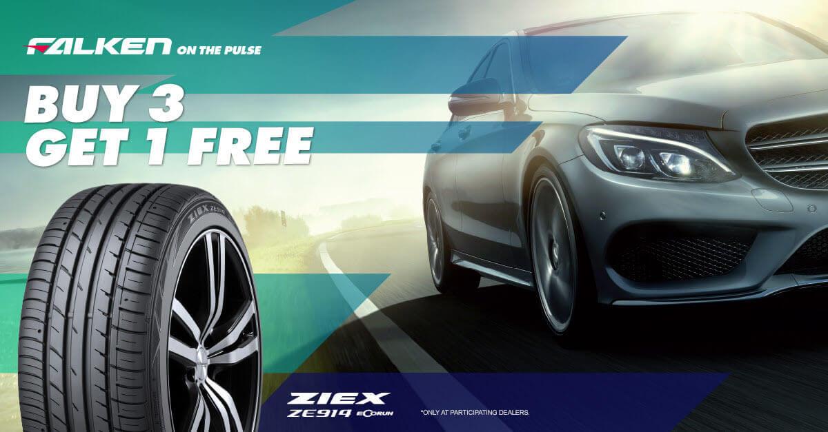 Falken Buy 3 Get 1 Free ZE914 Tyres