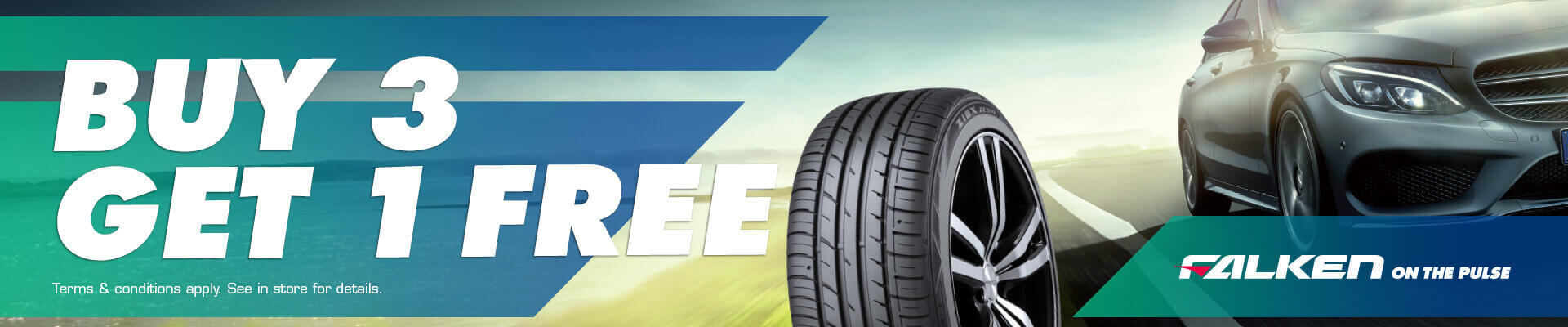 Falken Buy 3 Get 1 Free at Tyre Zone Capalaba