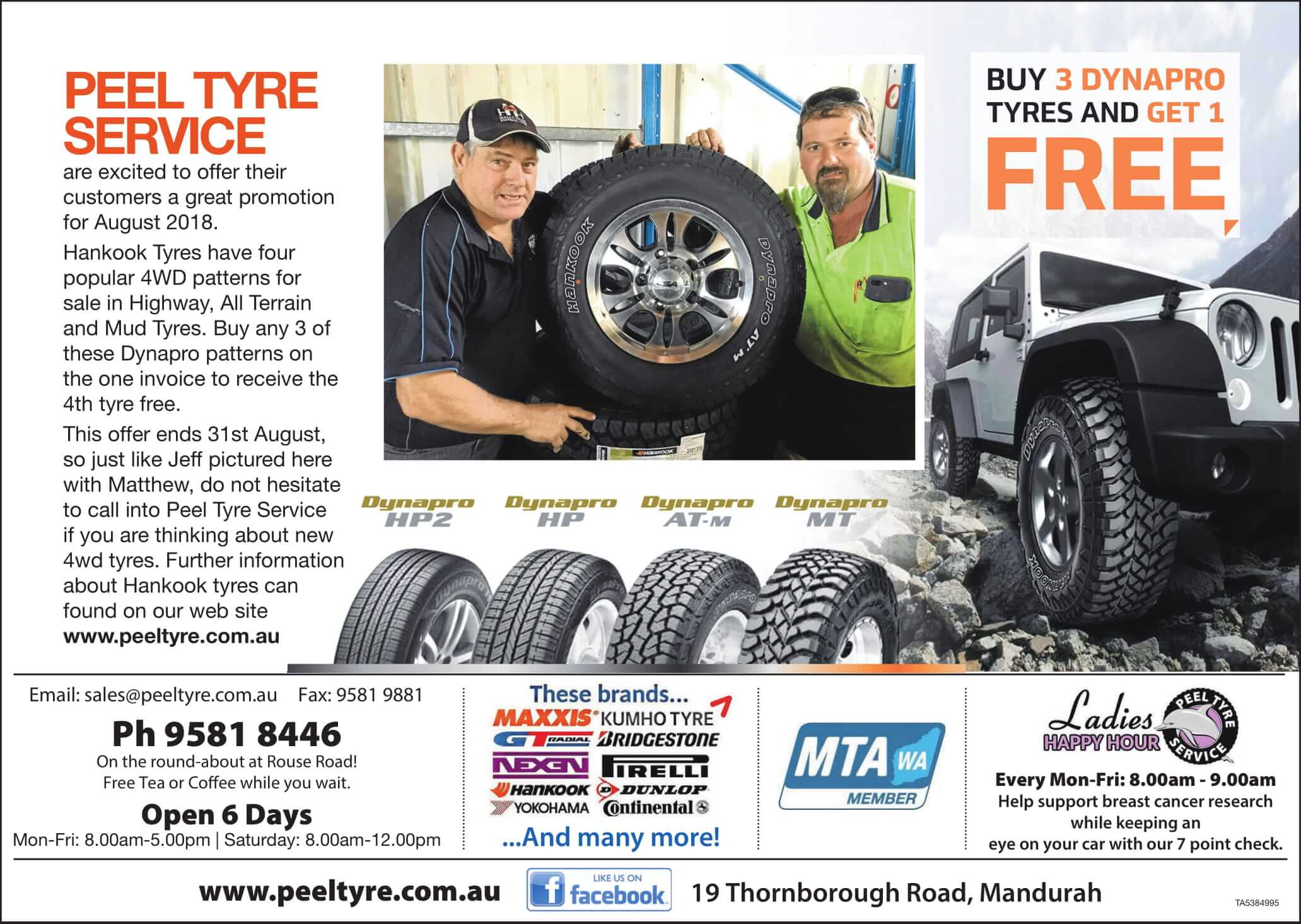 Peel Hankook August 2018 Sale