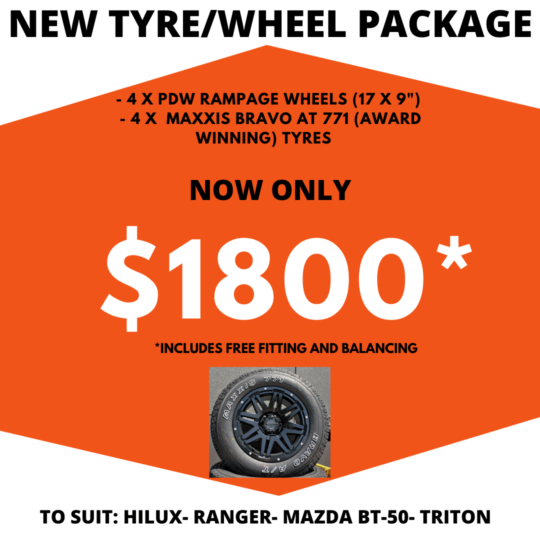 New Tyre/Wheel Package now only $1800 PDW Rampage and Maxxis Bravo AT 771
