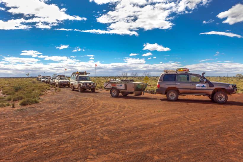 4x4 convoy in remote Western Australia