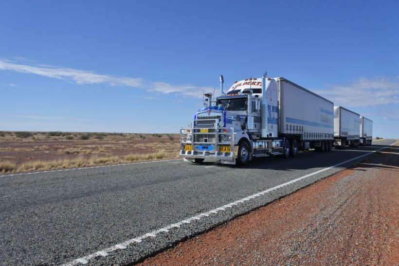 Road train in Central Australia