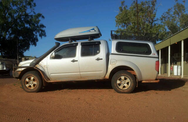 4x4 ute showing damage occurring from hitting a bump with a heavy tow ball weight