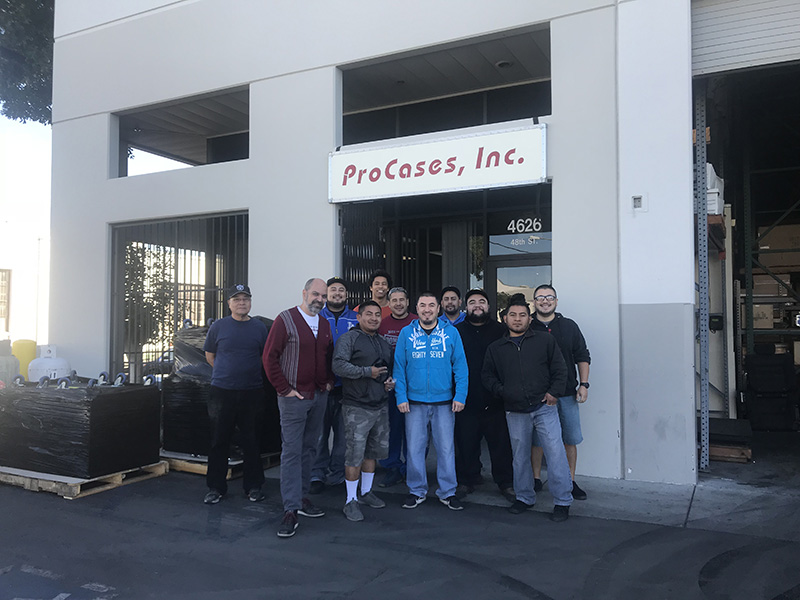 The ProCases crew outside their LA location