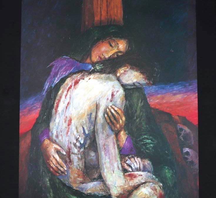 Station 9 – Mary holds Jesus
