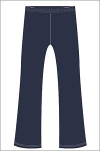 BGCK 0273C  BOOTLEG PANT ZIP F