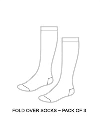 SHOL AS03  FOLD OVER SOCK 3 PA