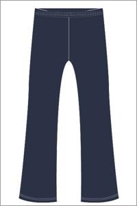 WNPS 0273C  BOOTLEG PANT ZIP F