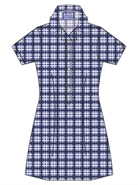 SJYJ 20917C  SUMMER CHECK DRES