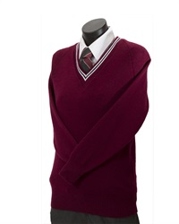 D53  WOOL BLEND V-NECK JUMPER