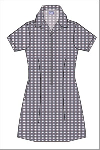 PKHL 20760C  CHECK DRESS. ZIP