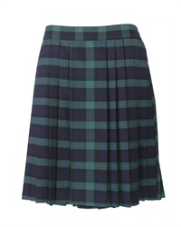 20782A  FLEATED CHECK SKIRT