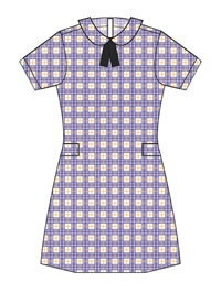 STVI 20928C  CHECK DRESS P/PAN