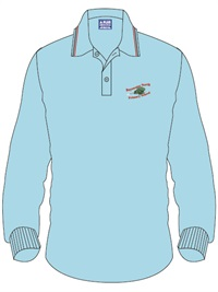 BSWN 1131C  LONG SLEEVE POLO S