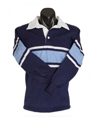 07218A  STRIPED KNIT RUGBY TOP