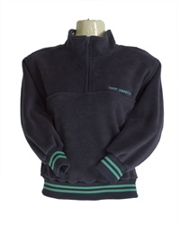 0134A GS  1/2 ZIP SWEAT WITH J