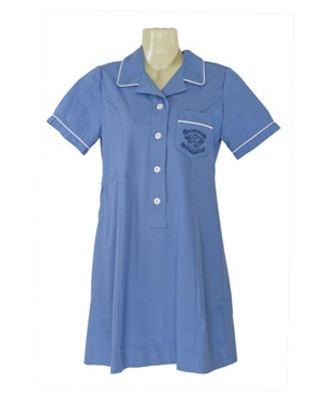 20938A  POLY COTTON PIPED DRES