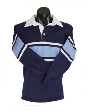 07218C  STRIPED KNIT RUGBY TOP