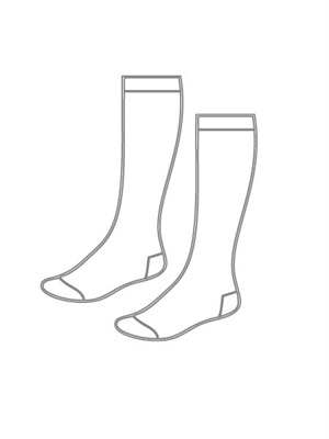 CNTH 017  SCHOOL SOCKS - KNEE