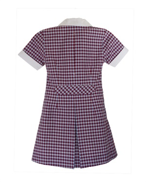 20958C  POLY COTTON CHECK DRES