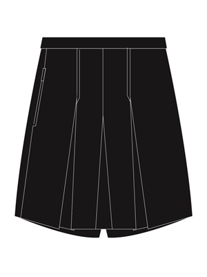 MOSO 3886BP  BOX PLEAT SKORT
