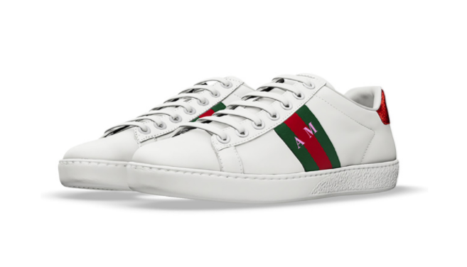 ac8a136f379 You can now get your Gucci sneakers monogrammed from the comfort of ...