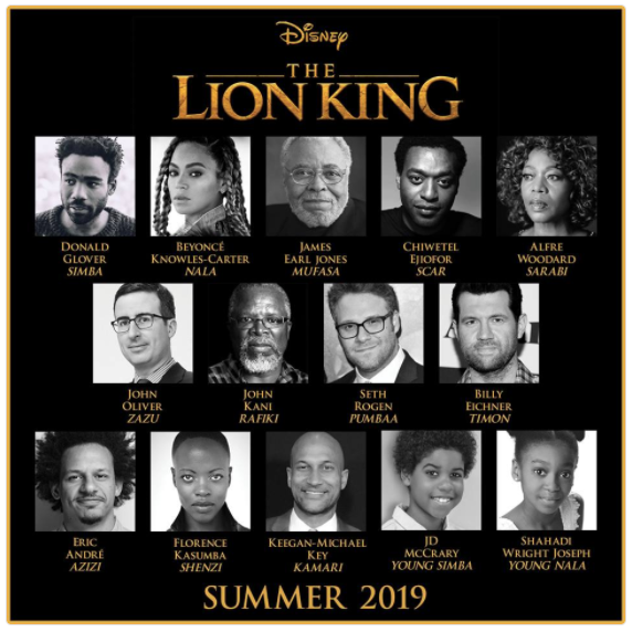 beyonc u00e9 to star in lion king u2019s live-action remake