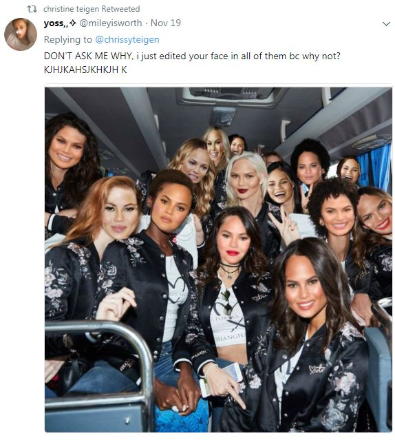 6e19b4a1e60 Chrissy Teigen trolled the entire 2017 Victoria s Secret Fashion ...