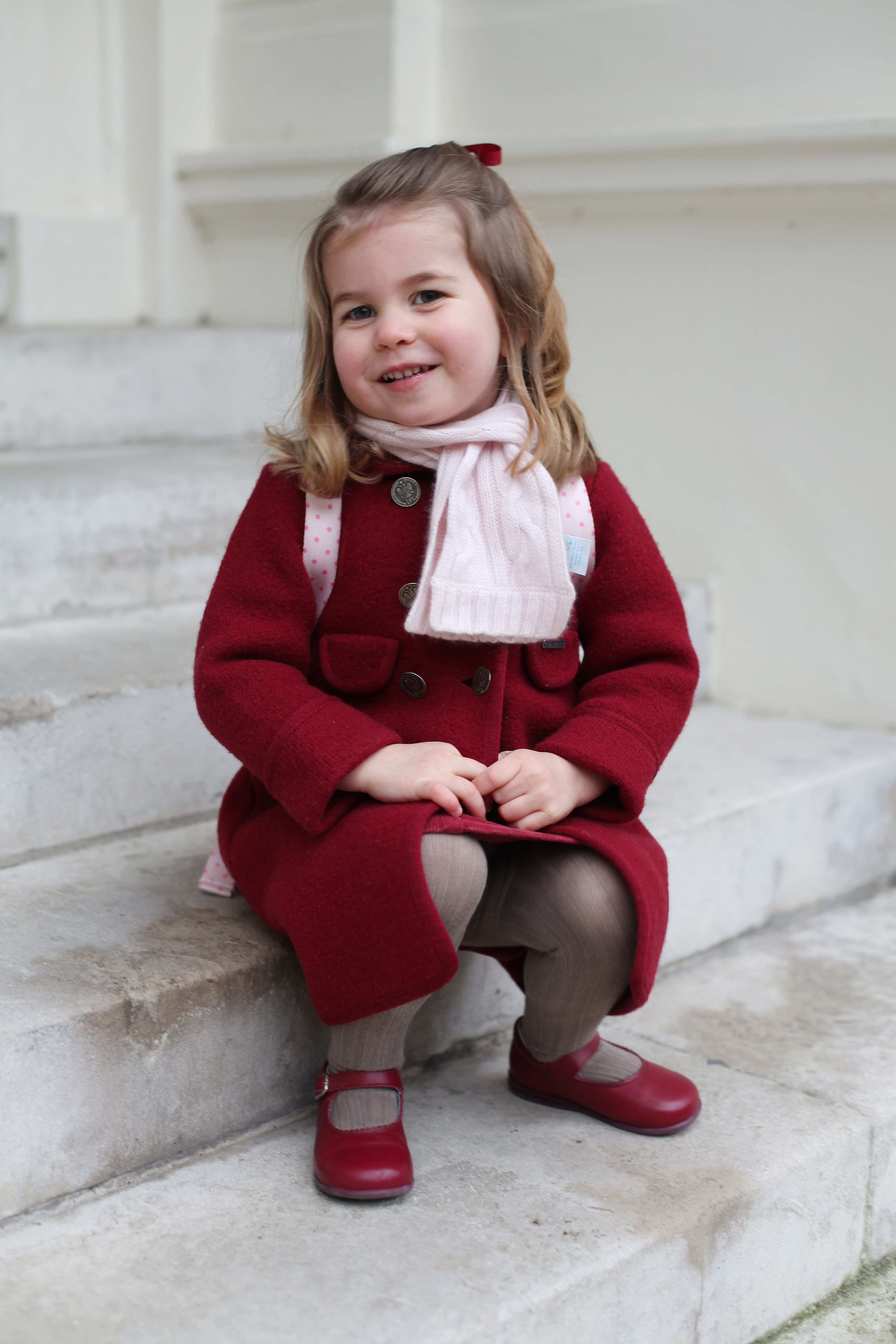 Princess Charlotte Poses For Her First Official Photos