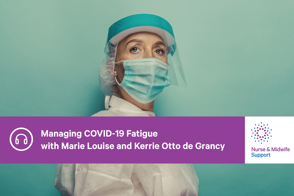 Podcast cover: Nurse in COVID-safe PPE
