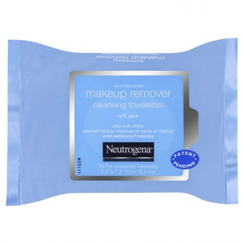 Neutrogena Make-Up Remover Cleansing Towelettes Refills 25 Each (Pack of 4) Eos Lip Balm Sphere Pomegranate Raspberry - 1 Ea, 3 Pack