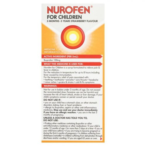 Nurofen For Children Pain And Fever Relief Strawberry Baby 3