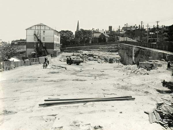 North Sydney Station Site - Looking West
