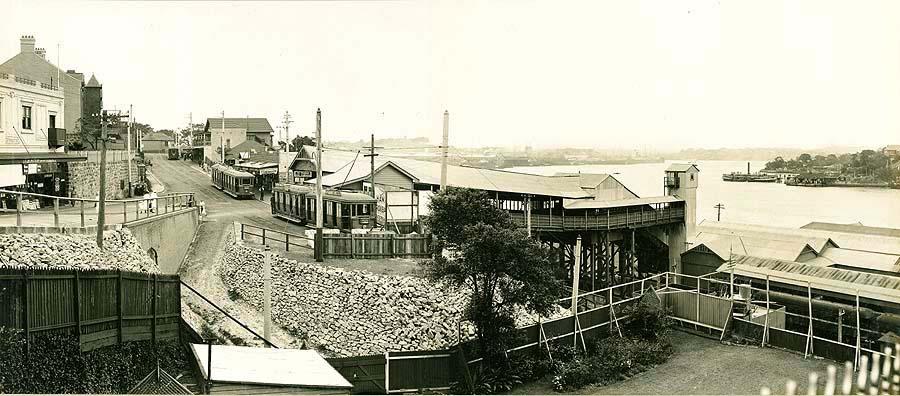 Panorama Glen Street tramway.
