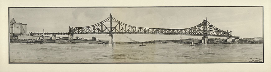 Sketch of the Cantilever Bridge as submitted for Tenders