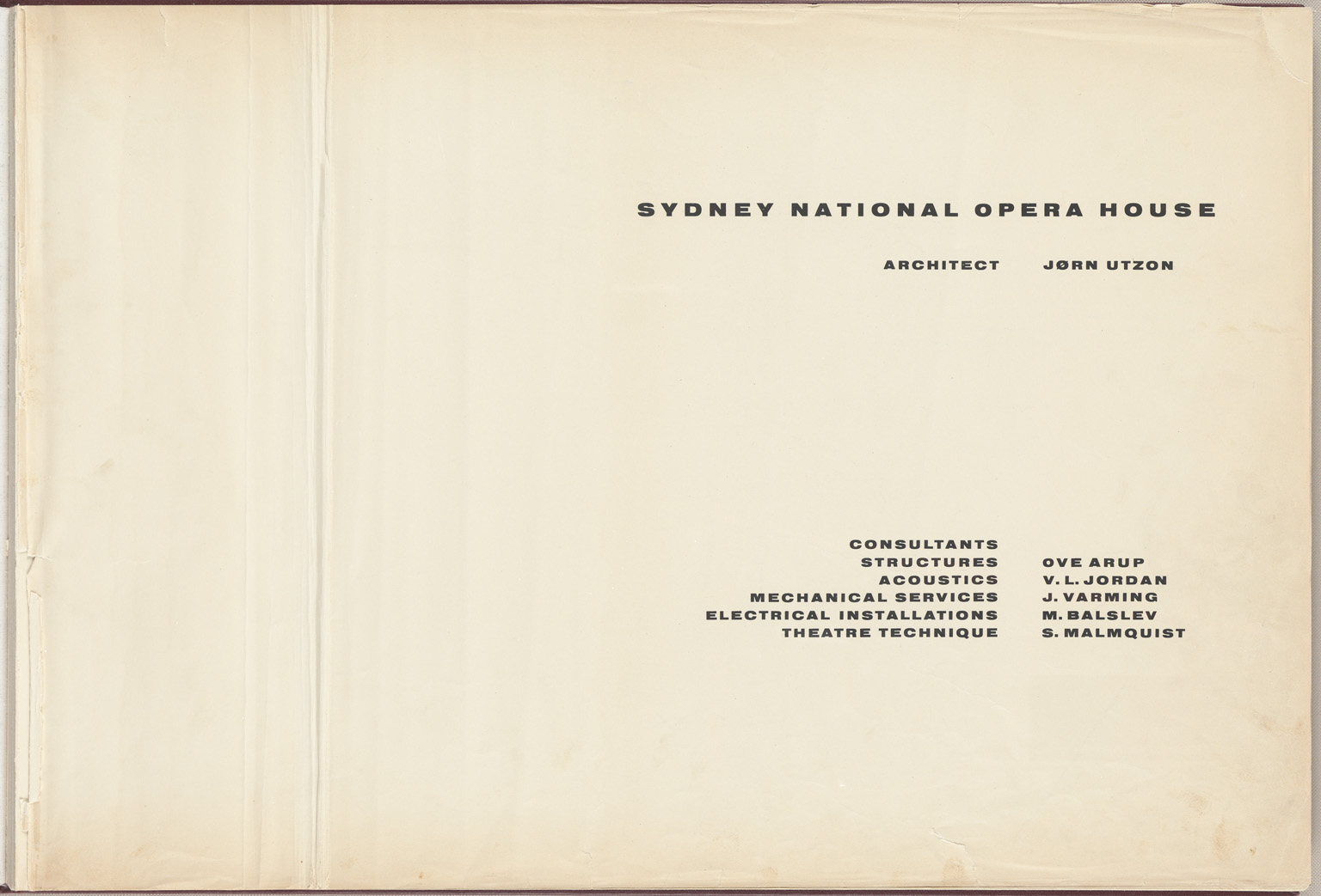 Inside cover Sydney Opera House Red Book