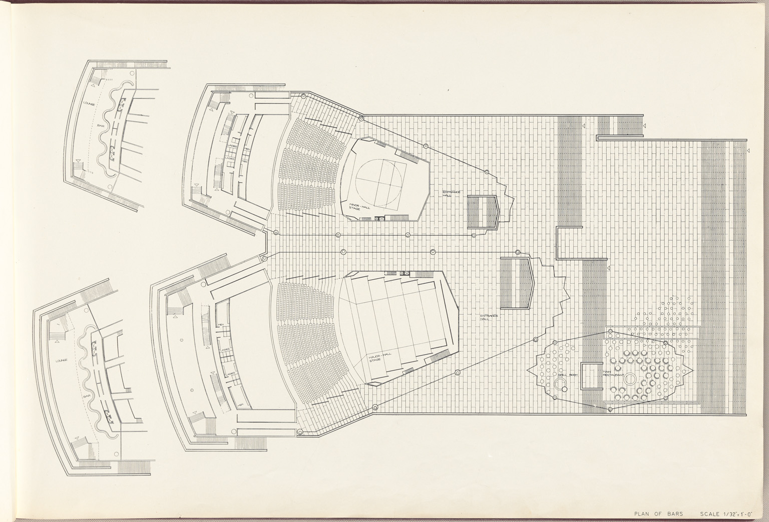 Plan of bars Sydney Opera House Red Book