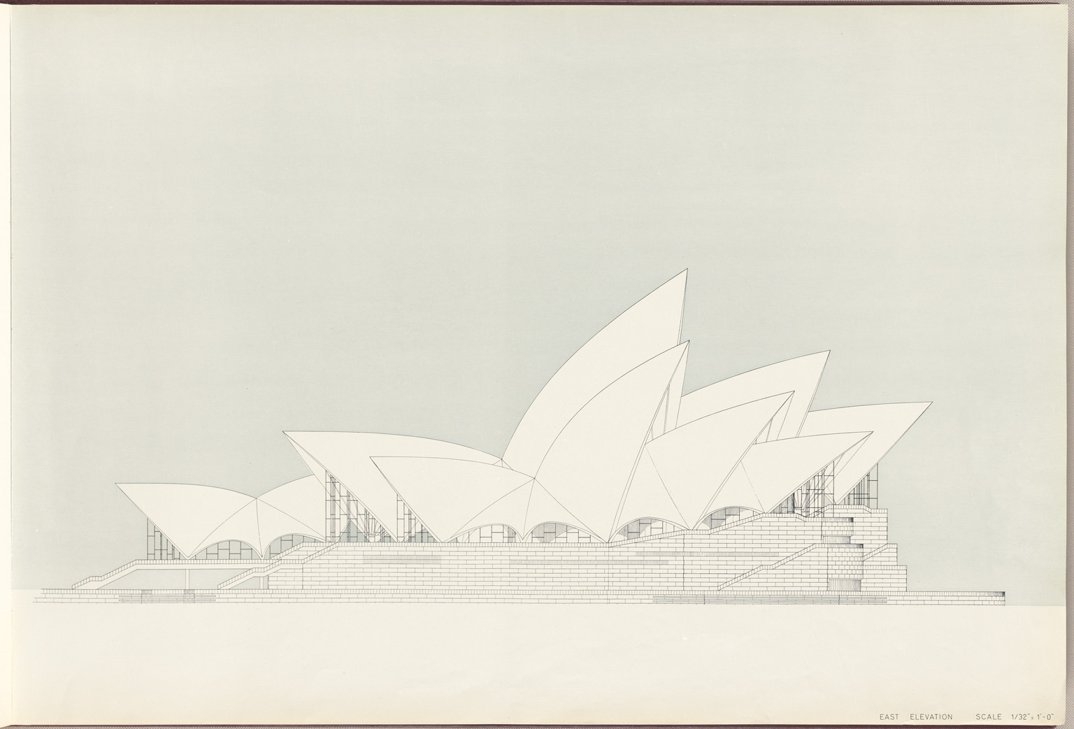 East elevation Sydney Opera House Red Book