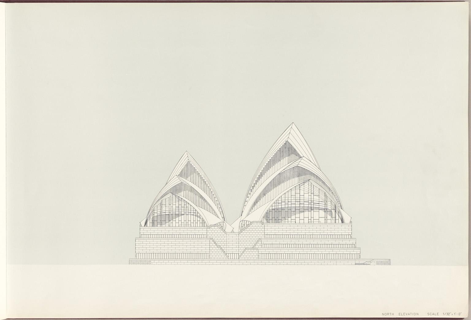 North elevation Sydney Opera House Red Book