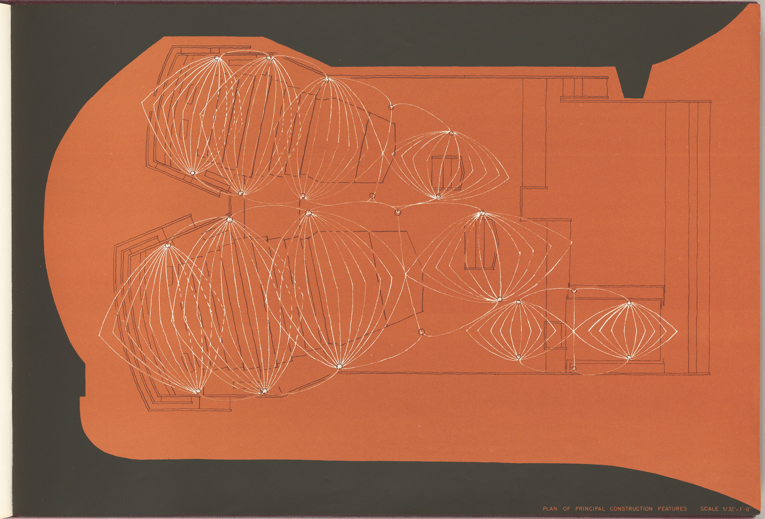Plan of the principal construction features Sydney Opera House Red Book