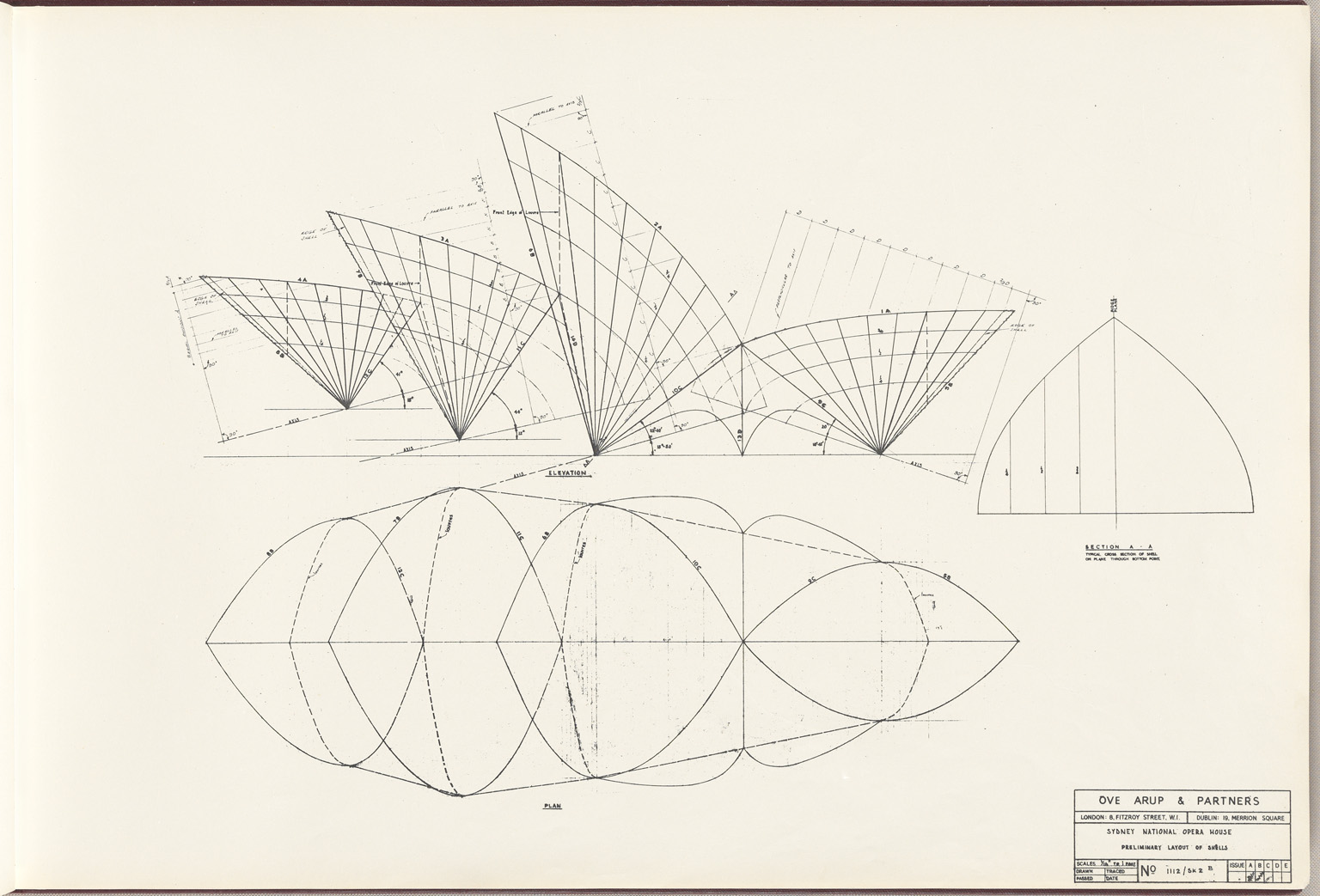 Preliminary layout Sydney Opera House Red Book