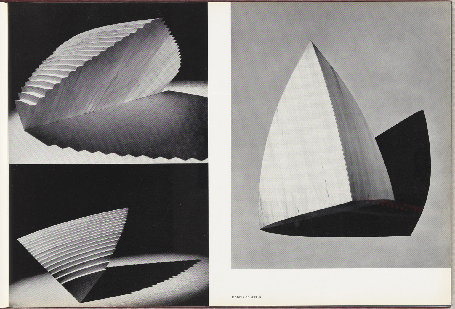 Models of shells Sydney Opera House Red Book