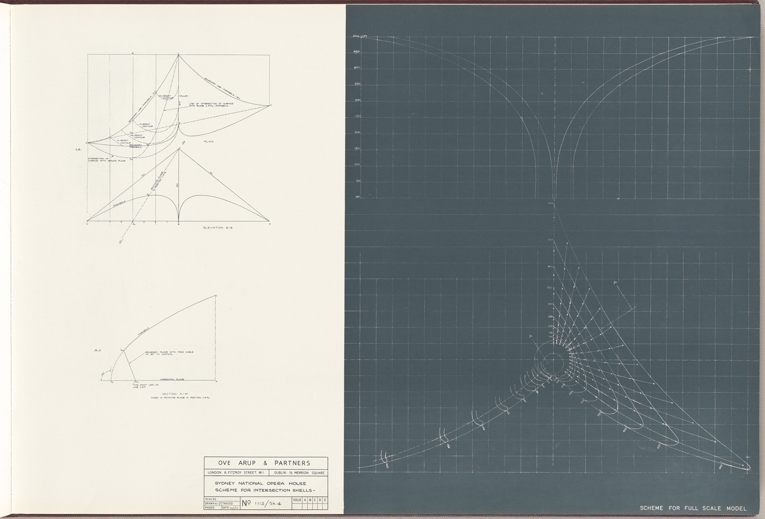 Scheme for full scale model Sydney Opera House Red Book