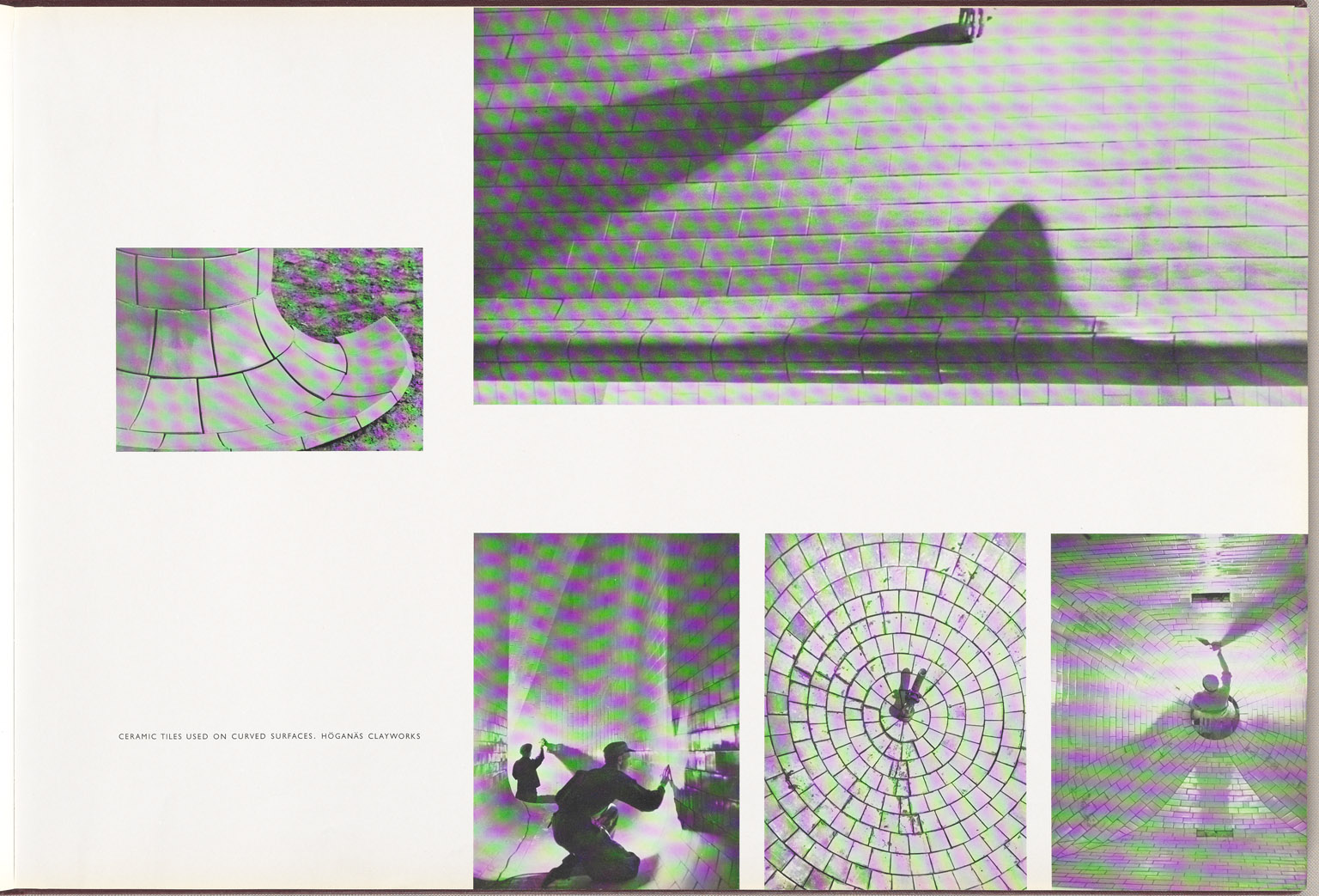 Ceramic tiles used on curved surfaces Hoganas Clayworks Sydney Opera House Red Book