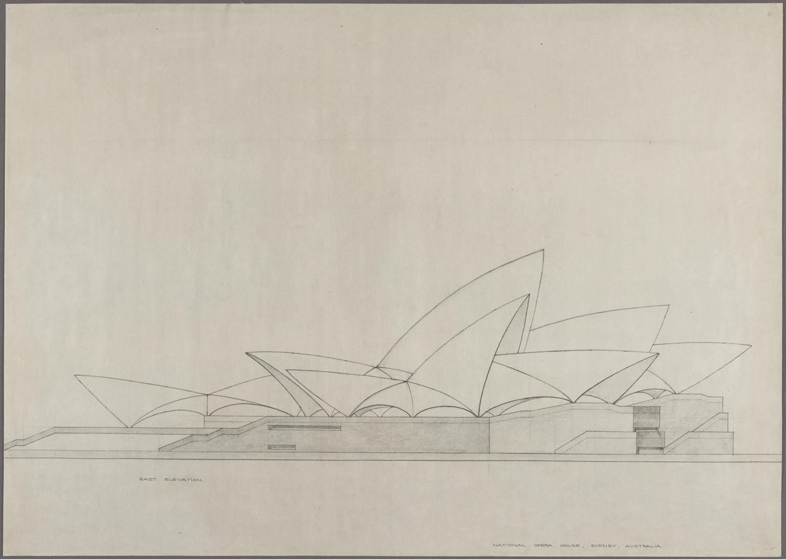 East elevation National Opera House, Sydney, Australia