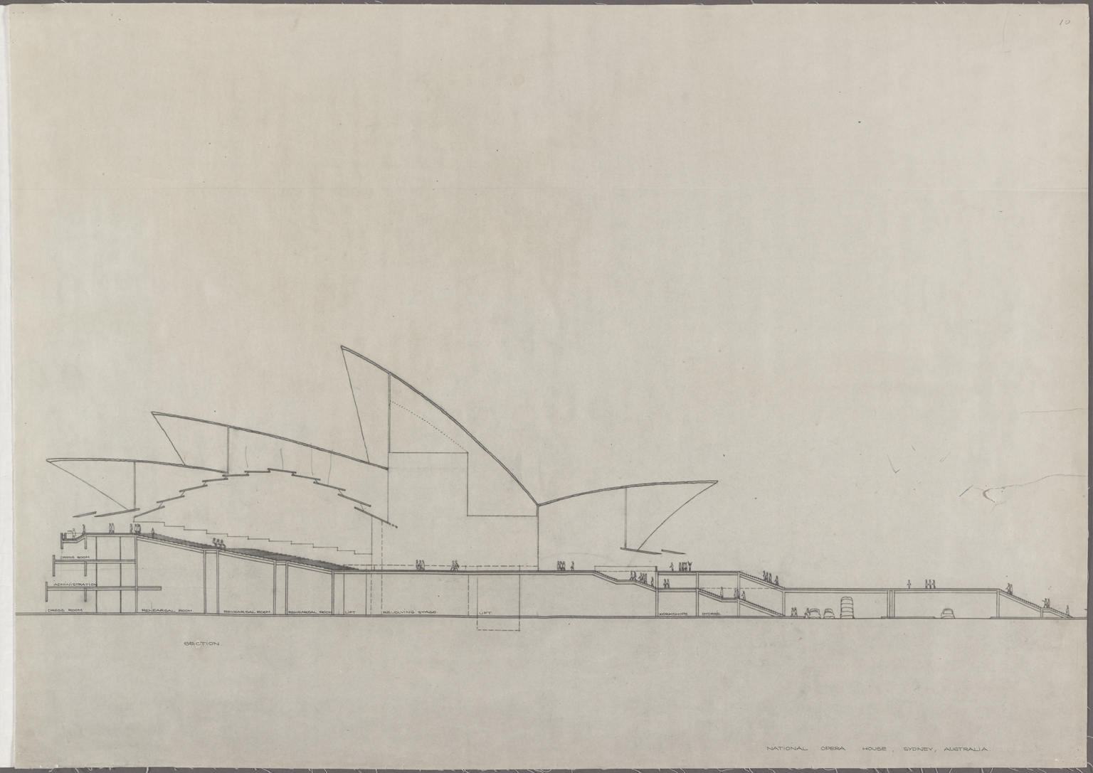 Section National Opera House, Sydney, Australia