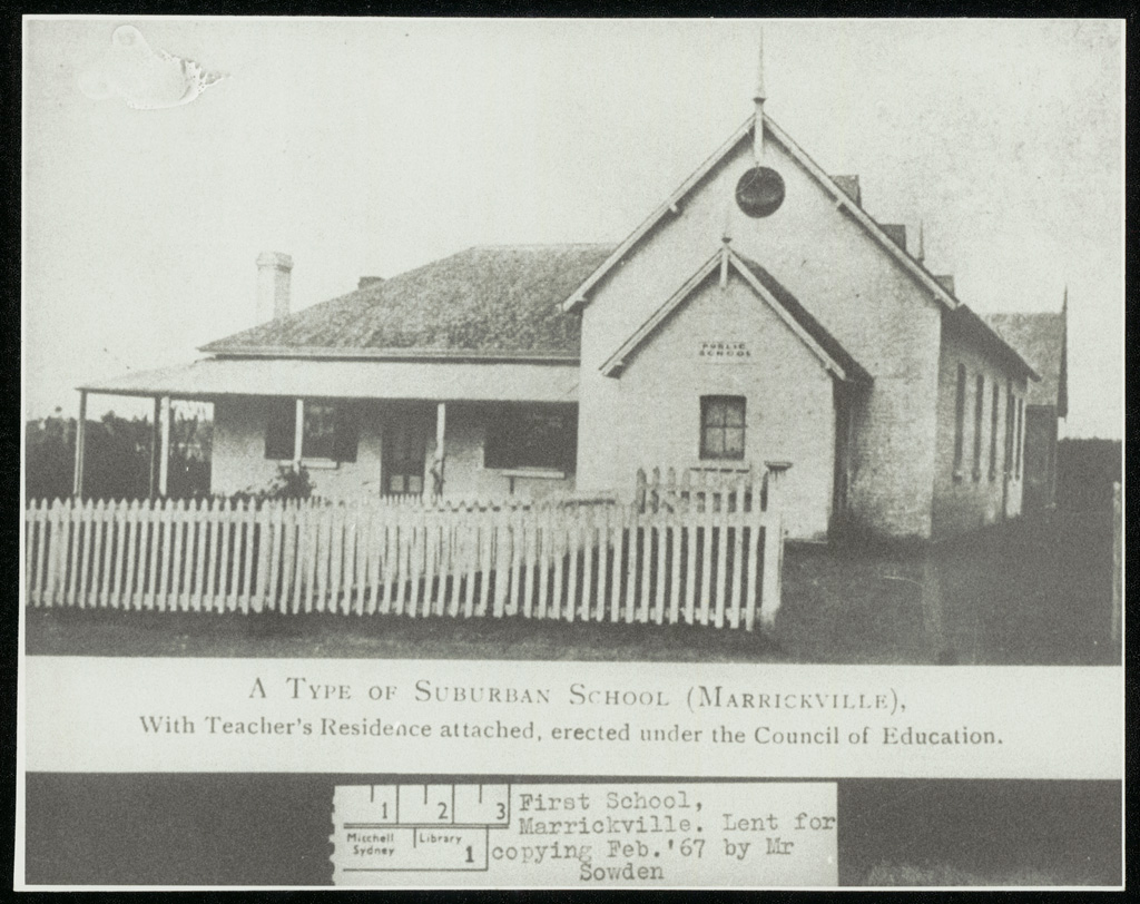Marrickville Public School - A type of suburban school (Marrickville) with teacher's residence attached erected under the Council of Education