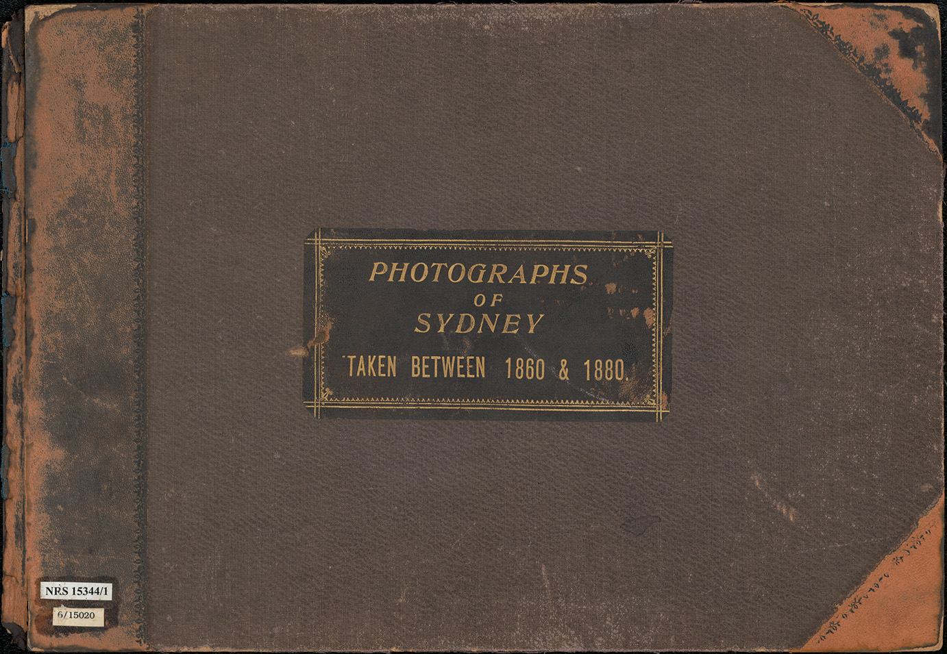 Photographs of Sydney taken between 1860 and 1880 [album cover]