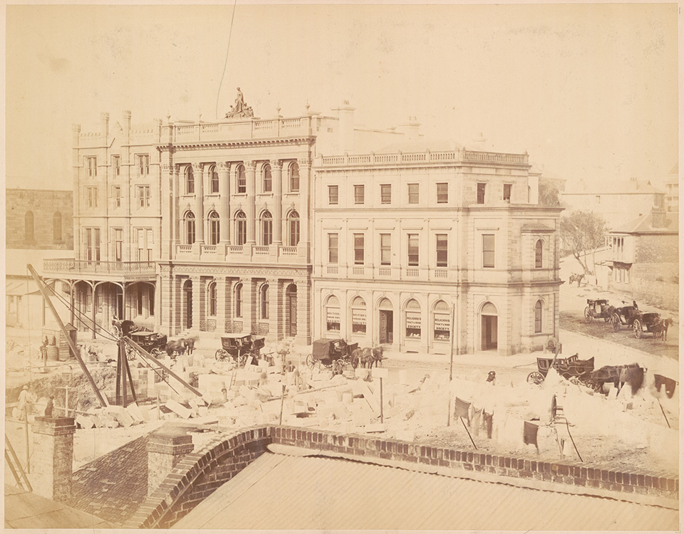 Building the Australian Mutual Provident Society's Offices - Pitt Street